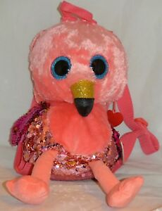 TY Beanie Boos FASHION GEAR Color Changing Sequin GILDA Flamingo ... a44fc9ede4a6
