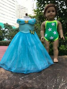 "Cinderella ball grown dress Swimwear for American girl 18/"" doll dress outfit 2pc"