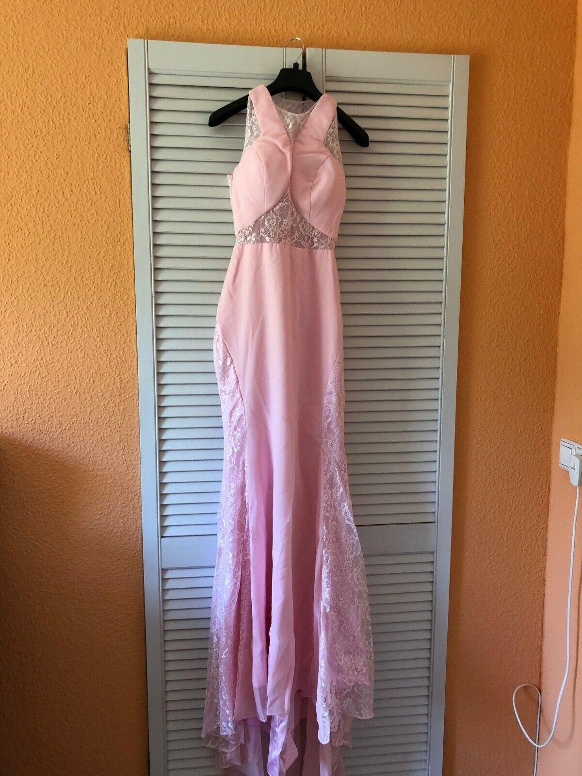 Jugendweihe- oder Abiballkleid Rosa, elegantes sehr schmales Kleid