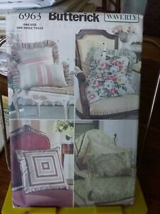 Oop-Butterick-Waverly-6963-pillow-covers-ruffled-classic-more-sizes-NEW