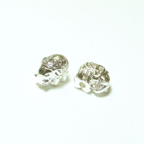 Perle Elefant Elephant Metall Metallperle in 6 Farben 10x11x8 mm 1x