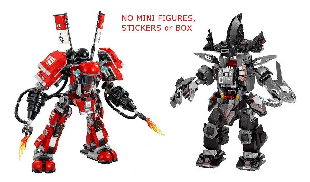 Lego 70613 & 70615 ninjago - garma mecha - mann & brand mech - mini - feigen   box