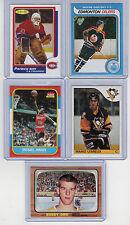 Gretzky-Lemieux-Roy-Orr & Jordan Reprint Rookie Cards Nrmt to Mint