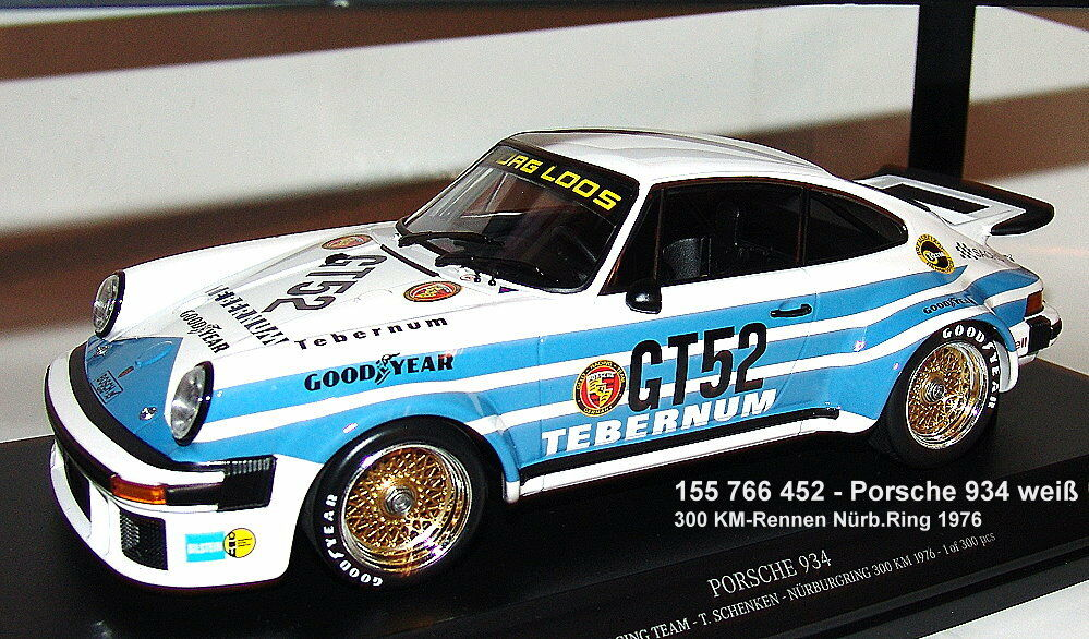 Minichamps 155766452-Porsche 934 gt52 300km nurburgring 1976 regalar 1 18