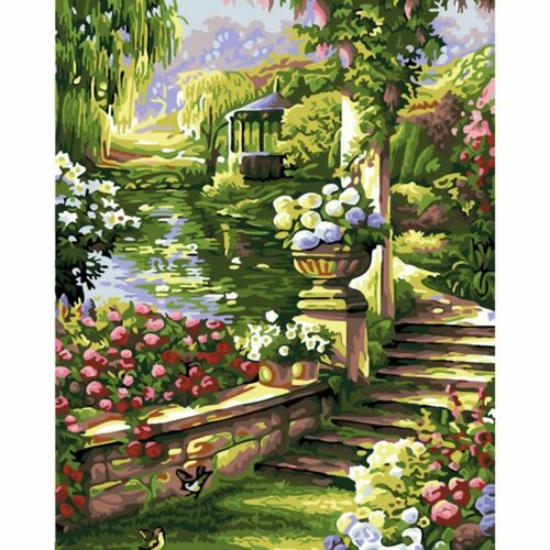 Unframed Paint by Numbers Kits Canvas Acrylic Oil Painting Training Home Decor