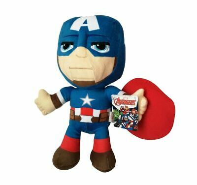 """OFFICIAL MARVEL COMICS NEW STYLE CAPTAIN AMERICA LARGE 12/"""" PLUSH SOFT TOY TEDDY"""