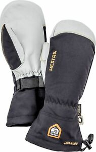 2020 Mens Hestra Army Leather Gore Tex Mitten Mitt Glove Ski Size 10 Black 31461