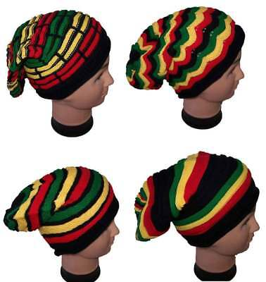 Reggae Rasta  Slinky Beanies Winter Caps Winter Hats Gifts Wca120 Z