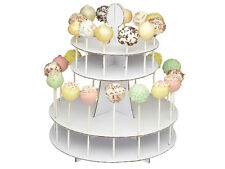 2 TIER 28 CAKE POP DISPLAY STAND WHITE CARDBOARD HOLDER PARTY TABLE DECORATING