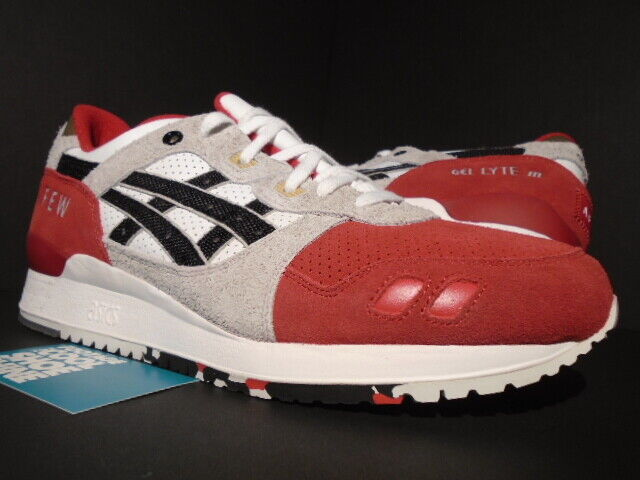 newest collection f42a6 23ae2 ASICS GEL-LYTE III 3 AFEW KOI WHITE BLACK RED RONNIE FIEG KITH H51NK-0190  NEW 11