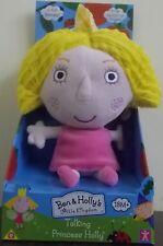 Ben & Holly's Little Kingdom ~ Talking Princess Holly ~ 18cm Tall Plush Soft Toy