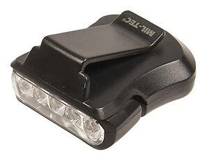 Mil-Tec Cap-Light 5 DEL Noir Lampe au Chapeau Visière Lampe hutlampe  </span>