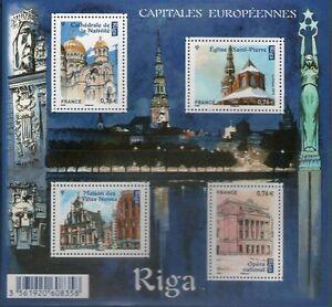 BLOC-FEUILLET-F4938-NEUF-XX-FRAICHEUR-POSTALE-RIGA-CAPITALE-EUROPEENNE