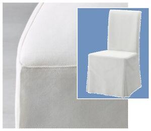 Fantastic Details About Ikea Henriksdal Dining Chair Skirt Cover New Blekinge Heavy Cotton Canvas White Machost Co Dining Chair Design Ideas Machostcouk
