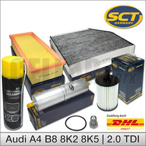 Audi-A4-8K-amp-A5-2-0-TDI-Inspektionspaket-Filterset-Filtersatz-Klimareiniger