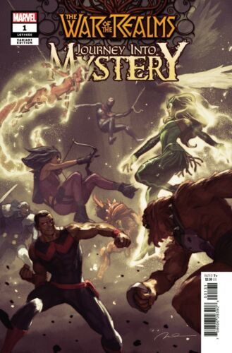 War of the Realms #1 Journey Into Mystery 1:50 Parel Variant Deaths Loki /& Odin