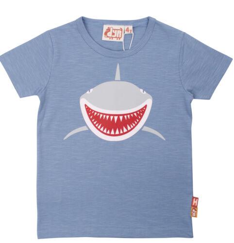 Dyr by Danefae T-Shirt Motivo SQUALO SHARK Blu Water Drop 92 104 110 116 128 NUOVO