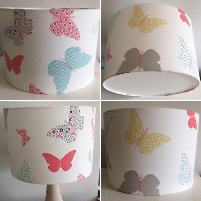 Handmade Childrens Ceiling Lampshade 25cm Drum Cath Kidstson Garden Fairies
