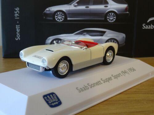 ATLAS EDITIONS MUSEUM SAAB SONNETT SUPER SPORT 94 1956 CREAM CAR MODEL LM09 1:43
