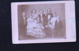 (n11027) Famille Photo Sur Carton, Atelierochsenkiel Munich-iel München Fr-fr Afficher Le Titre D'origine