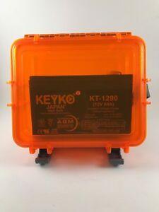 Details About Kayak Fish Finder Battery 12 Volt 9ah Agm Waterproof Dry Case Fishfinder