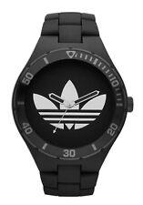 New Adidas Melbourne Matte Black Rubber Band Men Oversize Watch 50mm ADH2643 $95
