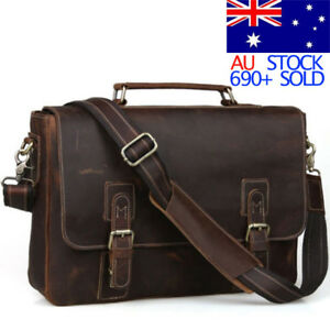 Men-039-s-Retro-Leather-Messenger-Shoulder-Bag-Satchel-15-034-Laptop-Briefcase-Attache