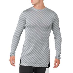 ASICS-Da-Uomo-Senza-Cuciture-Manica-Lunga-Top-Grigio-Sport-Running-Traspirante-Riflettente
