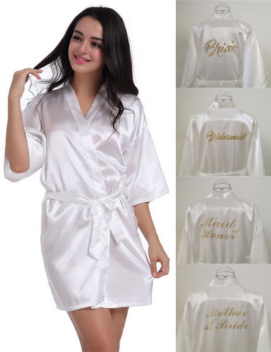 New Satin Silk Personalized Wedding Robe Bridesmaid Bride Mother Dressing Gown