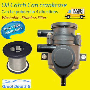 Oil-Catch-Can-Pro-Vent-Crankcase-100KW-Series-Stainless-Filter-Element-Separator