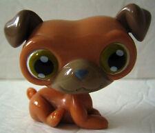 LITTLEST PET SHOP Figure Tan/Brown PUG DOG Green Eyes 2007 DecoPac Cake Topper