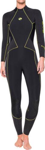 Bare 3mm Evoke Full Scuba Diving Wetsuit Women/'s Black