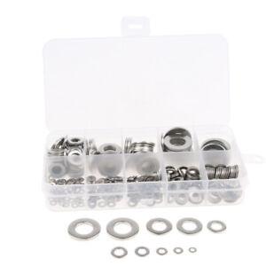 400pcs-Stainless-Steel-Flat-Washers-Insulation-Gaskets-Metal-Pads-Kit-Set