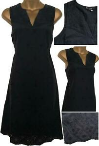 NEW-Ladies-NEXT-Navy-Cotton-Broderie-Anglais-Lace-Summer-Shift-Dress-Tunic-6-18