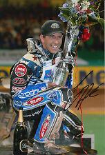 Greg Hancock Hand Signed 12x8 Photo Speedway Champion 6.