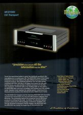Super Rare Original Factory McIntosh MCD1000 CD Transport Dealer Sheet Page