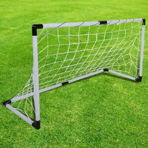 Fussballtor-Set-Tore-Ball-Pumpe-Tor-Fussball-Netz-Torwand-Goal-Fussballtor-Weiss