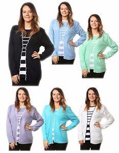 Nouveau-femme-a-manches-longues-tricote-TWIN-SETS-acrylique-cardigans-pulls-tops-plus-size