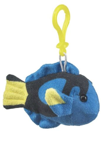 """Wildlife Artist Plush Keychain Clip Backpack Toy Blue Tang 5.5/"""""""