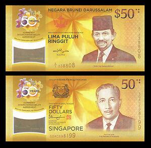 Singapore 50 Dollars p-62 2017 Commemorative UNC Polymer Banknote