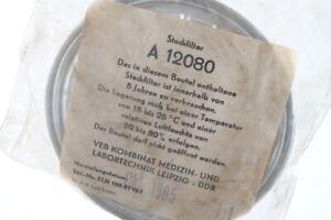 1 X Steckfilter Filter GDR MLW Decor A12080 Medizintechnik Leipzig Vintage
