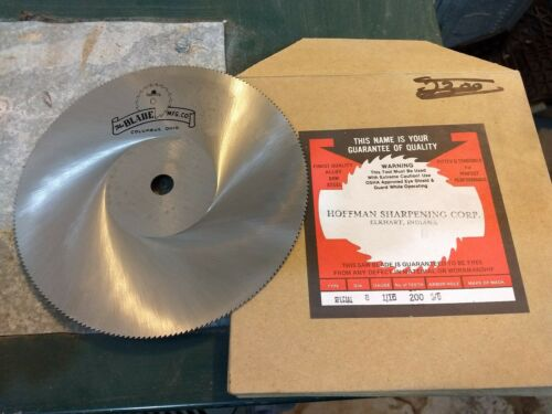 """1//16/"""" thick 8/"""" x 5//8/"""" Arbor 200 Tooth Alloy Tool Steel Saw Blade USA Made"""