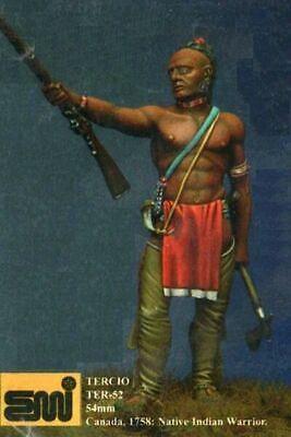 "Generoso Emi Tercio 54mm Metal Kit ""indian Warrior - Americas Xviii"" No Box! Ter-52 Chiaro E Distintivo"
