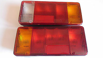 2 x Rear Tail Lights fit Iveco Daily Eurocargo Fiat Peugeot Truck Chassis Cab