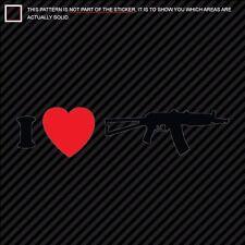 I LOVE MY AKS74U Sticker DieCut Decal Diecut AKS-74U