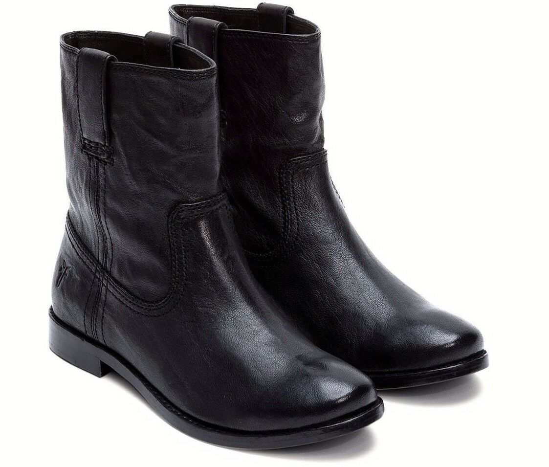 Frye Anna Shortie Boot Black Womens Size US 6.5 M Org  328