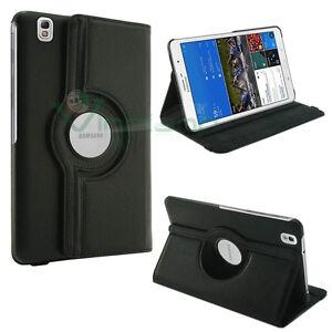 Custodia-pelle-Rotante-stand-per-Samsung-Galaxy-Tab-Pro-8-4-T320-NERA-cover