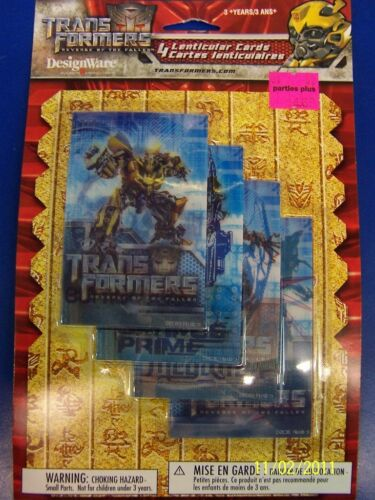 Transformers 2 Revenge of the Fallen Movie Birthday Party Lenticular Card Favors