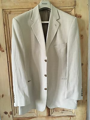 Men's Jaeger cream/stone silk and linen two peice suit