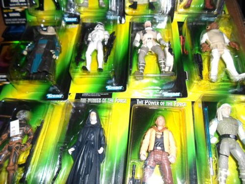 GREEN Card Carded Figures 1996 1997 Kenner Star Wars Power Of The Force II 2